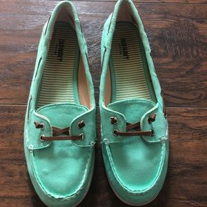 Teal Boat Shoes